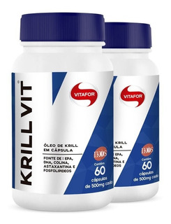 Kit 2 Óleo De Krill 60 Cáps Vitafor