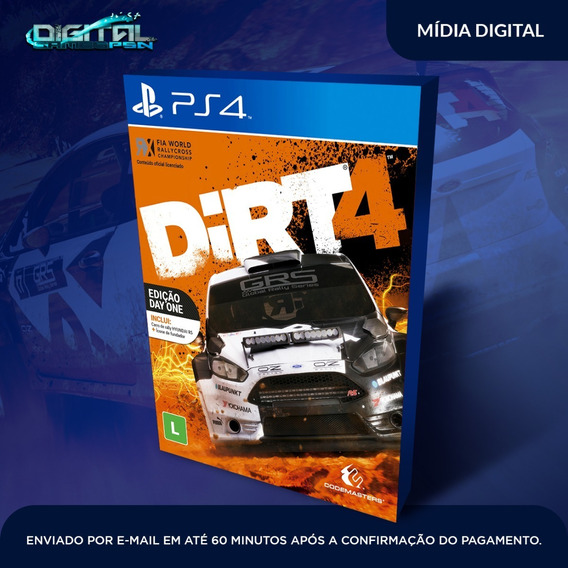 Dirt 4 Ps4 Psn Game Digital Completo Vitalicio Envio Hoje.