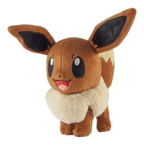Eevee Original Tomy Pelúcia Pokémon 20cm Boneco Com Etiqueta