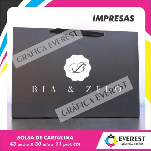 Bolsas De Cartulina 43x30x11 X 125u Impresas Offset 1 Color