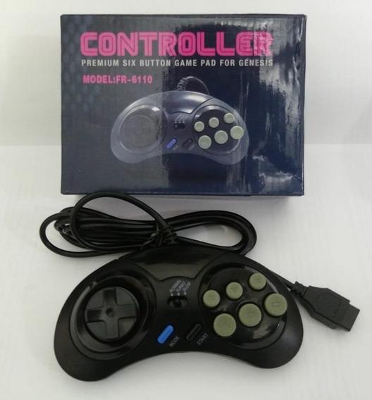 Controle Para Mega Drive - 6 Botões E Função Turbo