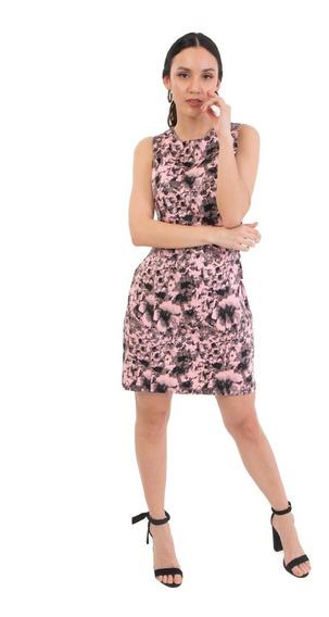 Vestido Corto Casual Estampado De Mia Loreto Modelo Fitonia