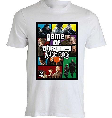 Playera Nuevo Modelo Grand Theft Auto Game Of Thrones Serie