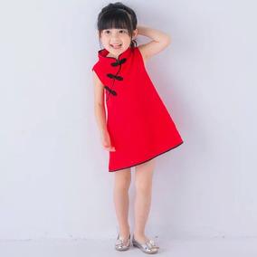 ba0cc1cdd5 Vestido Chino Niña - Vestidos en Mercado Libre México
