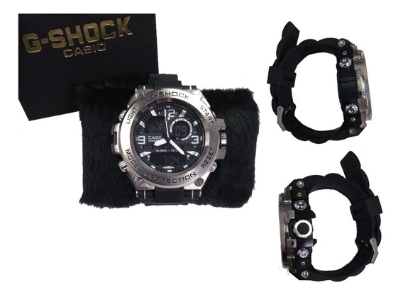 Relógio Prata Luxo Digital Esportivo Shoc Prova D