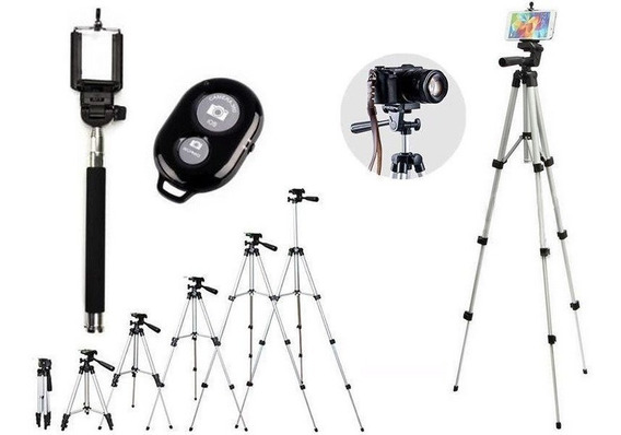 Tripé Universal 1,30m P/ Sony Nikon Cannon Kit Selfie + Nf