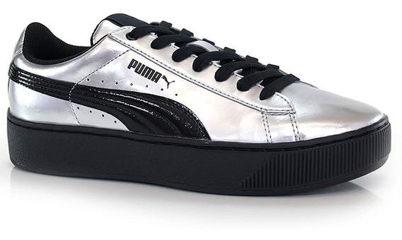 Tênis Puma Vikky Platform Metallic - Way Tenis