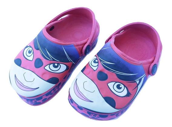 Sandália Infantil Ladybug Babuche Vermelho Menina