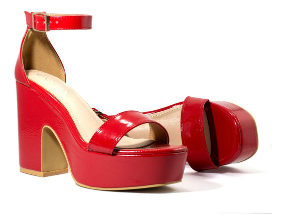 Zapatos Mujer Massimo Chiesa Sandalias Plataformas Charol