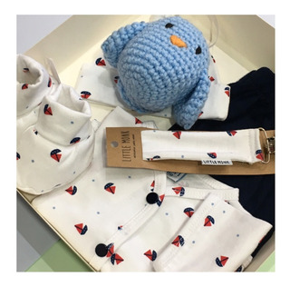 Ajuar Bebe Bienvenida Recien Nacido Set 5 Piezas Uccellini