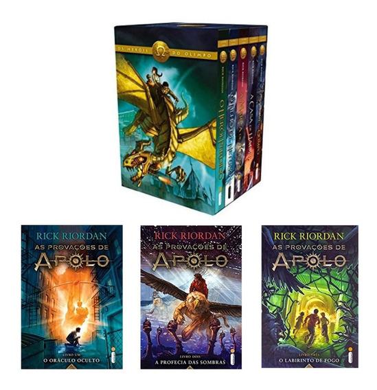 Box Livro Heróis Do Olimpo + Kit As Provações De Apolo 8 Liv