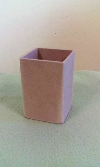 10 Lapiceros Portalapices 6x6x9 Cm En Fibrofacil