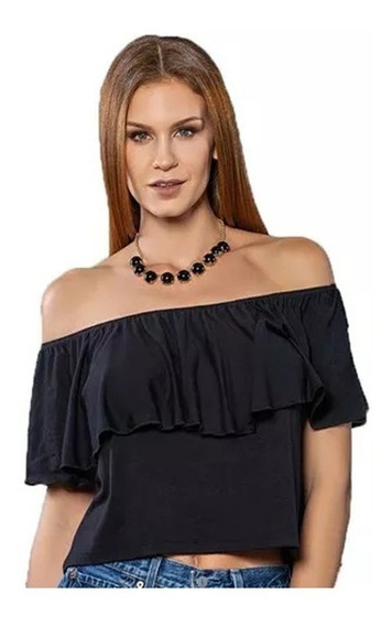Top Blusas Mujer Strapless Volado Cocot Art. 13046
