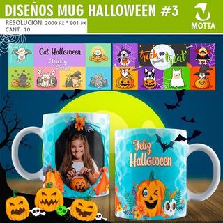10 Diseños Psd Para Tazas De Halloween Pack 3