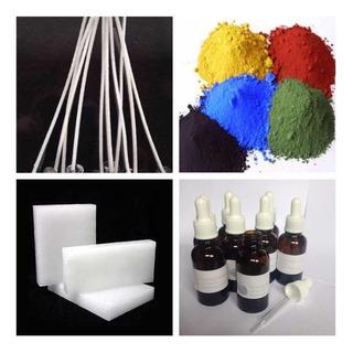 Set Para Hacer Velas (parafina Solida, Esencia, Pigmento,etc