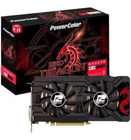 Placa De Vídeo Power Color Red Dragon Amd Radeon Rx 570 4gb