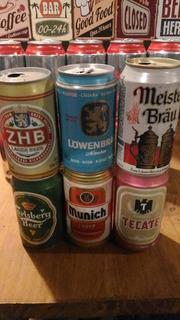 6 Latas De Cerveja Importadas Vazias