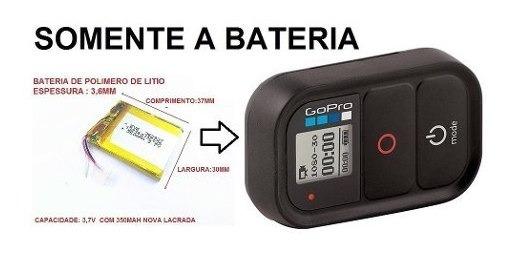 Bateria Gopro Hero Wi-fi Para O Controle Remoto 3,7v 350mah