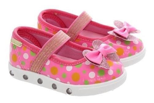 Sapatilha Sapato Infantil Led Minnie Meninas Brink