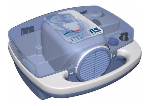 Nebulizador compressor NS Inalamax Plus azul e branco 110V/220V