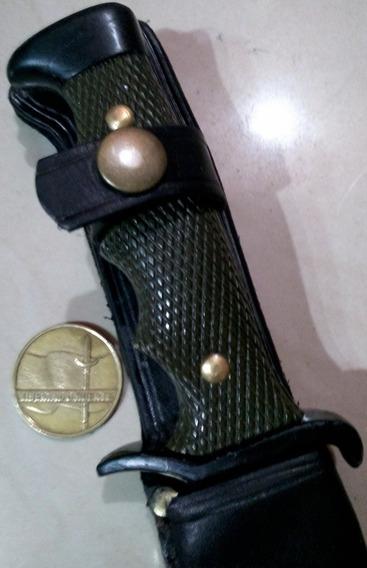 Antiguo Cuchillo Bowie Nieto Combate. Funda Cuero. Bayoneta.