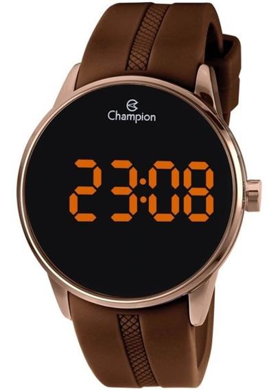 Relógio Unissex Champion Digital Ch40188r - Marrom