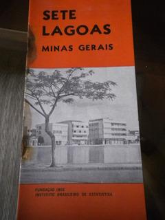 Monografia Antiga Ibge Cidade Sete Lagoas Estado Minas Gerai