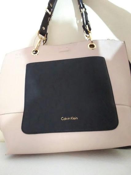 Bolsa Feminina Calvin Klein Original Em Couro