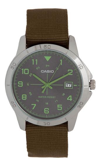 Relógio Casio Verde Militar Mtp-v008b-3b Retro Original