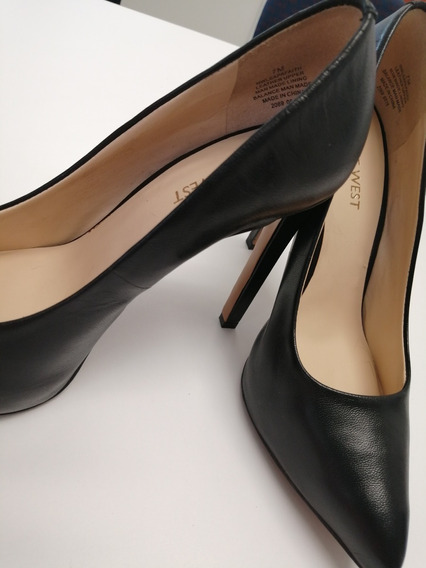 Zapatos Nine West Original Negros Altos Elegantes Talla 4mx