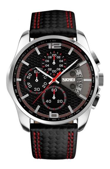 Relógio Skmei 9106 Masculino Cronógrafo De Luxo.