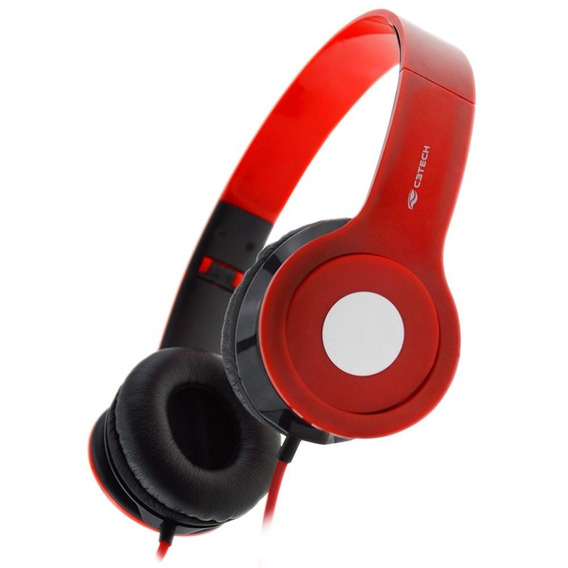 Fone Com Microfone Ph-100 Vermelho C3tech