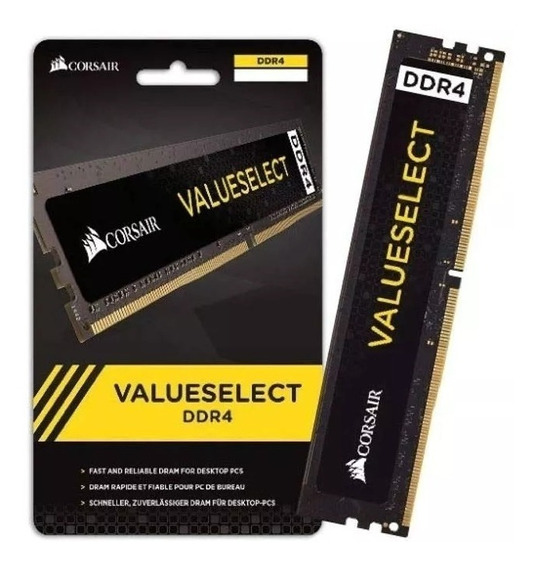 Memória Computador Corsair Ddr4 4gb 2133mhz Valueselect 962