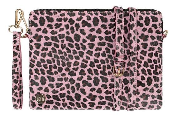 Cartera Bandolera Sobre Pu Mi-pac Clutch Cheetah Pink