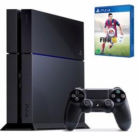 Playstation 4 Ps4 Completo Com Controle Original + Jogo!