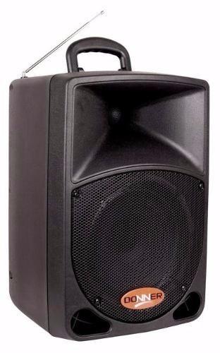 Caixa De Som Ativa Ll Audio Donner8 Dr08 Bat+fm+usb 80w Rms