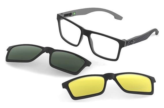 Oculos Mormaii Swap M6057aga56 Preto Fosc Clip On Polarizado