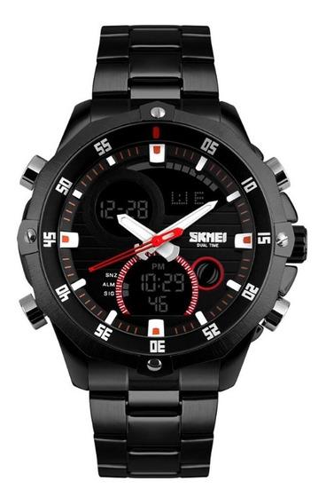 Relógio Masculino Skmei Anadigi 1146 Pt