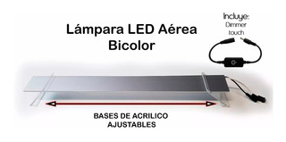 70 Cm Lámpara Led Aérea Bicolor (dimmer Touch On-off)