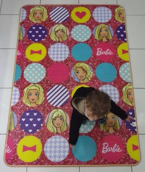 Tapete Infantil Recreio Barbie Dupla Face Jolitex Gigante