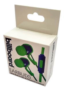Auricular Earbud In Ear Playback Microfono Control Billboard