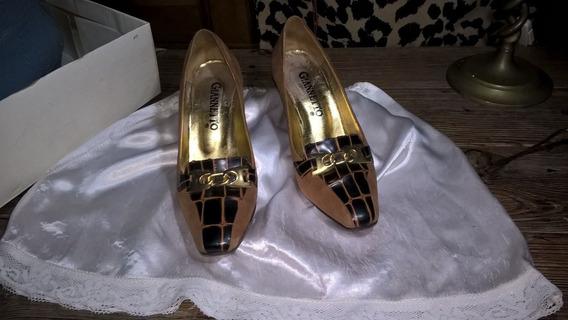 Zapatos De Gamuza Y Charol Numero 35/36
