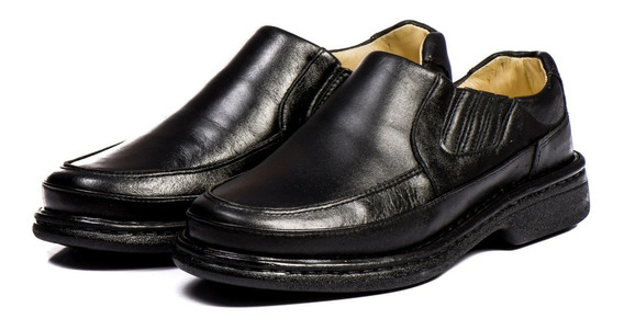 Sapato Ortopédico Anti Stress Social Masculino 100% Couro