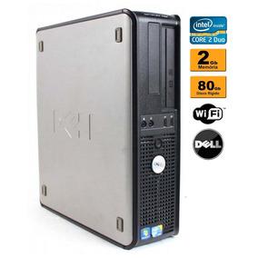 Cpu Pc Desktop Dell Core 2 Duo 2gb Hd 80gb Gravador Wifi