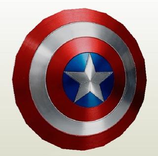 Escudo Capitan America Para Armar Papercraft Color Promo 2x1