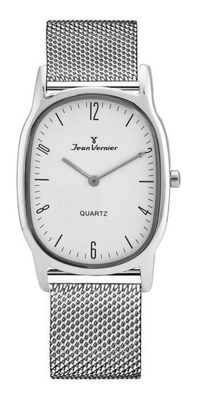 Relógio Pulso Jean Vernier Unissex Aço Inoxidável Jv00072a