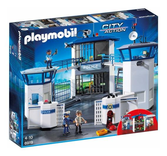 Playmobil 6919 Comisaria De Policia Con Prision Intek