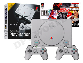 Consola Playstation 1 Ps1 Mini 2 Controles 20 Juegos Origina