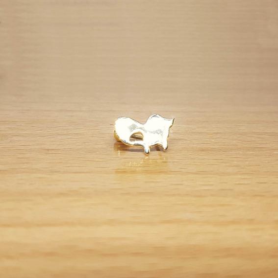 Piercing Umbigo De Ouro 18k Gato Liso