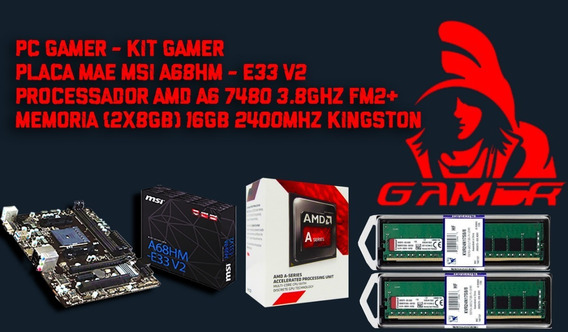 Kit Gamer Msi A68hm-e33 V2 + Amd A6 7480 Mem. Ddr4 16gb King